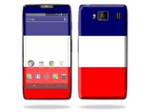 Mightyskins Protective Vinyl Skin Decal Cover for Motorola Droid Razr Maxx Android Smart Cell Phone wrap sticker skins - France Flag