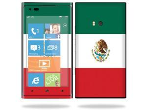 Mightyskins Protective Vinyl Skin Decal Cover for Nokia Lumia 900 4G Windows Phone AT&T Cell Phone wrap sticker skins Mexican Flag