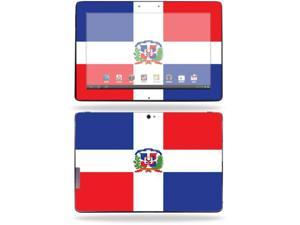 "Mightyskins Protective Skin Decal Cover for Asus Transformer Infinity TF700 Tablet with 10.1"" screen wrap sticker skins Dominican Flag"