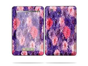"Mightyskins Protective Skin Decal Cover for Lenovo IdeaPad A1 7"" inch Tablet wrap sticker skins Purple Flowers"