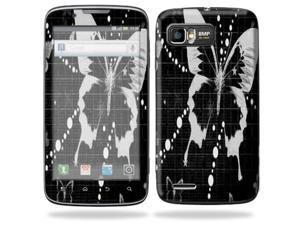 MightySkins Protective Skin Decal Cover for Motorola Atrix 2 II (version 2) Cell Phone Sticker Black Butterfly