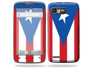 Mightyskins Protective Skin Decal Cover for Motorola Atrix 2 II (version 2) Cell Phone Sticker PuertoRican Flag