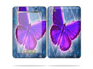 "Mightyskins Protective Skin Decal Cover for Lenovo IdeaPad A1 7"" inch Tablet wrap sticker skins Violet Butterfly"