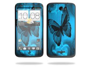Mightyskins Protective Skin Decal Cover for HTC One X+ Plus Cell Phone AT&T wrap sticker skins Dark Butterfly