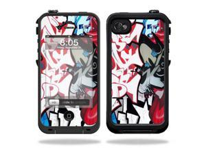 Mightyskins Protective Vinyl Skin Decal Cover for LifeProof iPhone 4 / 4S Case wrap sticker skins Graffiti Mash Up