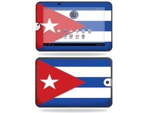 Mightyskins Protective Vinyl Skin Decal Cover for Toshiba Thrive 10.1 Android Tablet wrap sticker skins Cuban flag