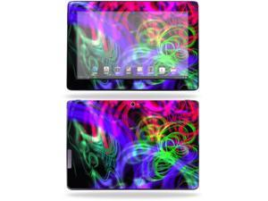 "Mightyskins Protective Skin Decal Cover for Asus Transformer Infinity TF700 Tablet with 10.1"" screen wrap sticker skins Neon Splatter"