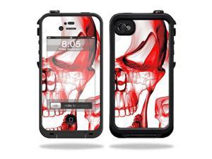 Mightyskins Protective Vinyl Skin Decal Cover for LifeProof iPhone 4 / 4S Case wrap sticker skins Melting Skulls