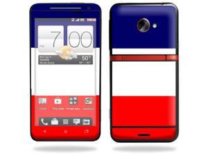 Mightyskins Protective Vinyl Skin Decal Cover for HTC Evo 4G LTE Sprint Cell Phone wrap sticker skins France Flag