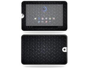 Mightyskins Protective Vinyl Skin Decal Cover for Toshiba Thrive 10.1 Android Tablet wrap sticker skins Black Dia Plate