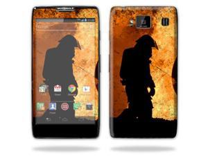 Mightyskins Protective Skin Decal Cover for Motorola Droid Razr Hd & Razr Maxx HD Cell Phone wrap sticker skins Fire Fighter