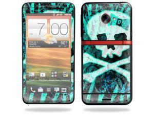 Mightyskins Protective Skin Decal Cover for HTC Evo 4G LTE Sprint Cell Phone T-Mobile wrap sticker skins Zebra Skull