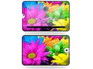 MightySkins Protective Vinyl Skin Decal Cover for Toshiba Thrive 10.1 Android Tablet sticker skins Colorful Flowers