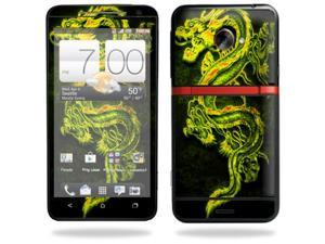 Mightyskins Protective Skin Decal Cover for HTC Evo 4G LTE Sprint Cell Phone T-Mobile wrap sticker skins Neon Dragon