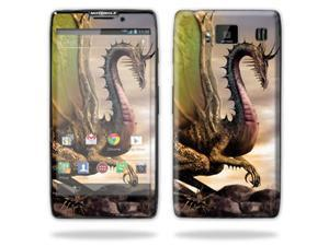 Mightyskins Protective Skin Decal Cover for Motorola Droid Razr Hd & Razr Maxx HD Cell Phone wrap sticker skins Dragon World