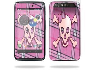Mightyskins Protective Skin Decal Cover for Motorola Atrix HD Cell Phone AT&T wrap sticker skins Pink Bow Skull