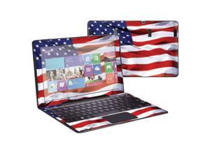 """Mightyskins Protective Skin Decal Cover for Samsung ATIV Smart PC Pro 700T with 11.6"""" screen wrap sticker skins American Flag"""