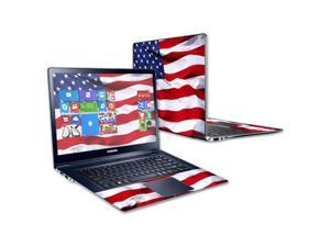 """Mightyskins Protective Skin Decal Cover for Samsung ATIV Book 9 Plus 13.3"""" wrap sticker skins American Flag"""