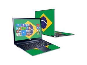 """Mightyskins Protective Skin Decal Cover for Samsung ATIV Book 9 Plus 13.3"""" wrap sticker skins Brazilian Flag"""