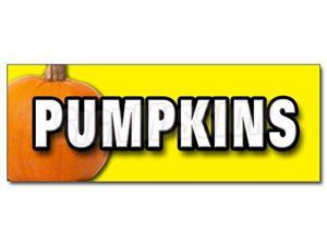 "48"" PUMPKINS DECAL sticker pumpkin patch halloween"