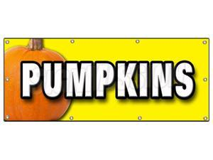 "36""x96"" PUMPKINS BANNER SIGN pumpkin patch halloween signs"