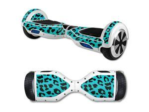 MightySkins Protective Vinyl Skin Decal for Self Balancing Scooter Board mini hover 2 wheel x1 razor wrap cover sticker Teal Leopard