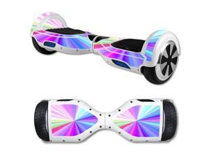 MightySkins Protective Vinyl Skin Decal for Self Balancing Scooter Board mini hover 2 wheel x1 razor wrap cover sticker Rainbow Zoom
