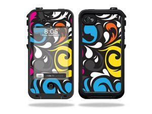 Mightyskins Protective Vinyl Skin Decal Cover for LifeProof iPhone 4 / 4S Case wrap sticker skins Swirly