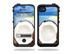 Mightyskins Protective Vinyl Skin Decal Cover for LifeProof iPhone 4 / 4S Case wrap sticker skins Coconuts