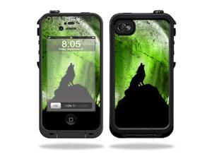 Mightyskins Protective Vinyl Skin Decal Cover for LifeProof iPhone 4 / 4S Case wrap sticker skins Howling Wolf