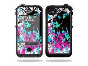Mightyskins Protective Vinyl Skin Decal Cover for LifeProof iPhone 4 / 4S Case wrap sticker skins Leaf Splatter