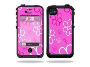 Mightyskins Protective Vinyl Skin Decal Cover for LifeProof iPhone 4 / 4S Case wrap sticker skins Flower Power