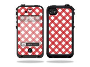 Mightyskins Protective Vinyl Skin Decal Cover for LifeProof iPhone 4 / 4S Case wrap sticker skins Red Picnic