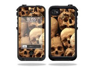 Mightyskins Protective Vinyl Skin Decal Cover for LifeProof iPhone 4 / 4S Case wrap sticker skins Skull pile