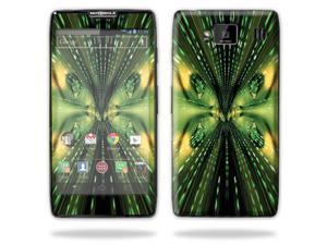Mightyskins Protective Skin Decal Cover for Motorola Droid Razr Hd & Razr Maxx HD Cell Phone wrap sticker skins Matrix