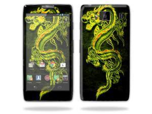 Mightyskins Protective Skin Decal Cover for Motorola Droid Razr Hd & Razr Maxx HD Cell Phone wrap sticker skins Neon Dragon