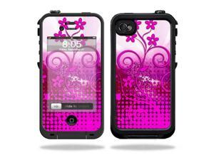 Mightyskins Protective Vinyl Skin Decal Cover for LifeProof iPhone 4 / 4S Case wrap sticker skins Pink Growth