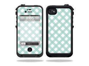 Mightyskins Protective Vinyl Skin Decal Cover for LifeProof iPhone 4 / 4S Case wrap sticker skins Aqua Picnic