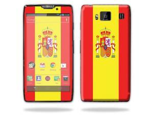 Mightyskins Protective Skin Decal Cover for Motorola Droid Razr Hd & Razr Maxx HD Cell Phone wrap sticker skins Spain Flag