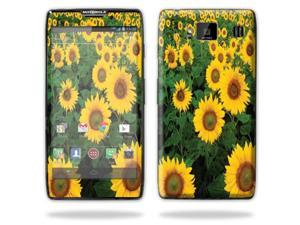 Mightyskins Protective Skin Decal Cover for Motorola Droid Razr Hd & Razr Maxx HD Cell Phone wrap sticker skins Sunflowers