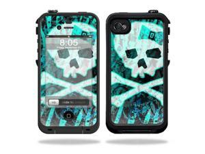 Mightyskins Protective Vinyl Skin Decal Cover for LifeProof iPhone 4 / 4S Case wrap sticker skins Zebra Skull