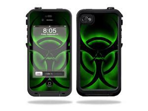 Mightyskins Protective Vinyl Skin Decal Cover for LifeProof iPhone 4 / 4S Case wrap sticker skins Bio Glow