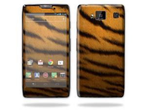 Mightyskins Protective Skin Decal Cover for Motorola Droid Razr Hd & Razr Maxx HD Cell Phone wrap sticker skins Tiger