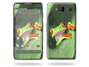 Mightyskins Protective Skin Decal Cover for Motorola Droid Razr Hd & Razr Maxx HD Cell Phone wrap sticker skins Froggy