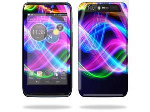 Mightyskins Protective Skin Decal Cover for Motorola Atrix HD Cell Phone AT&T wrap sticker skins Light waves