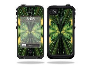 Mightyskins Protective Vinyl Skin Decal Cover for LifeProof iPhone 4 / 4S Case wrap sticker skins Matrix