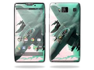 Mightyskins Protective Skin Decal Cover for Motorola Droid Razr Hd & Razr Maxx HD Cell Phone wrap sticker skins Fighter Jet