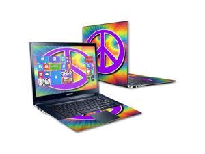 """Mightyskins Protective Skin Decal Cover for Samsung ATIV Book 9 Plus 13.3"""" wrap sticker skins Hippie Time"""