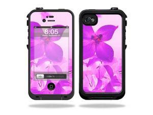 Mightyskins Protective Vinyl Skin Decal Cover for LifeProof iPhone 4 / 4S Case wrap sticker skins Pink Flowers