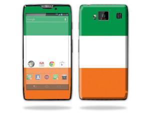 Mightyskins Protective Skin Decal Cover for Motorola Droid Razr Hd & Razr Maxx HD Cell Phone wrap sticker skins Irish Flag